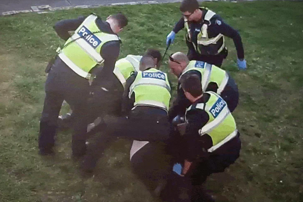 Article image for Horrific vision of ill man brutalised by police raises fresh questions