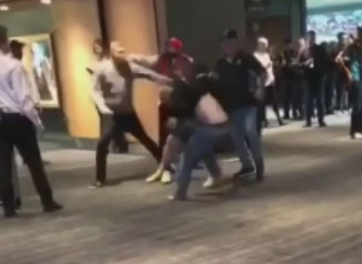 Article image for Video: Shocking brawl breaks out in dying minutes of Adelaide Oval clash