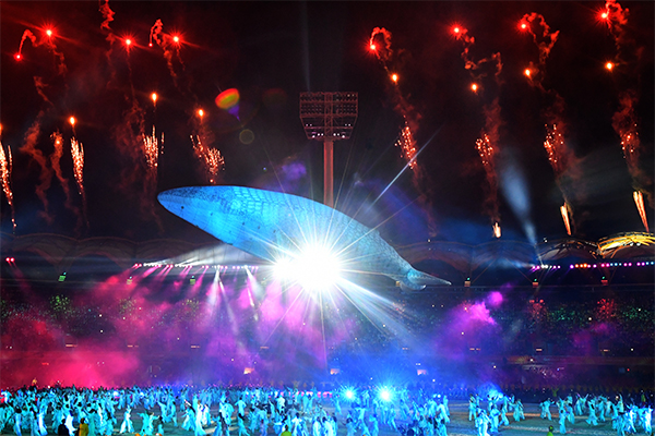 Article image for First review: Peter Ford casts his eye over the Commonwealth Games opening ceremony