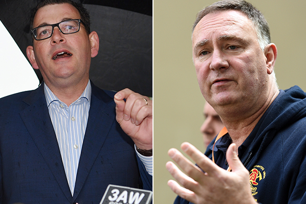 Article image for POLITICAL FIRESTORM   Union boss Peter Marshall turns on Premier, makes 'secret deal' threat