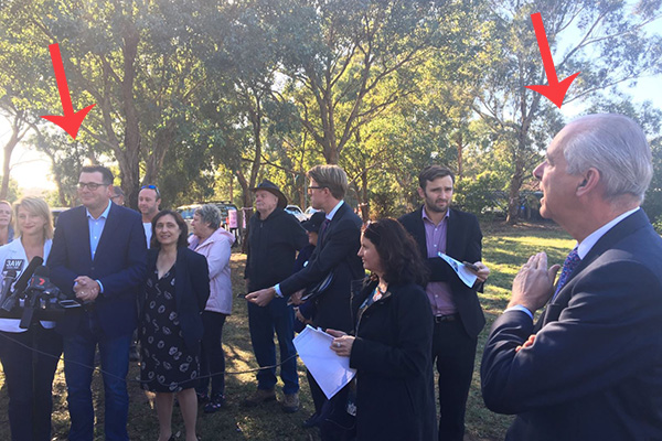 Article image for Daniel Andrews confronted by local mayor at press conference
