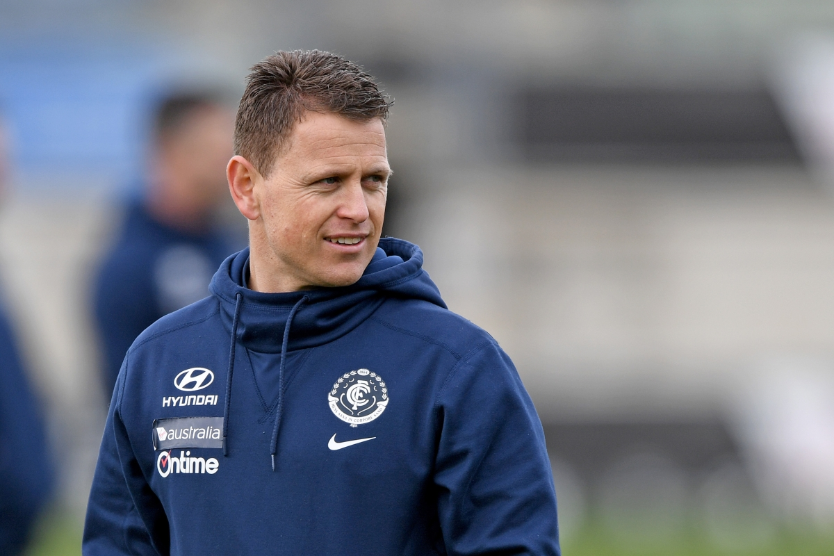 Article image for Blues coach admits he may have gone too far in approaching opposition player