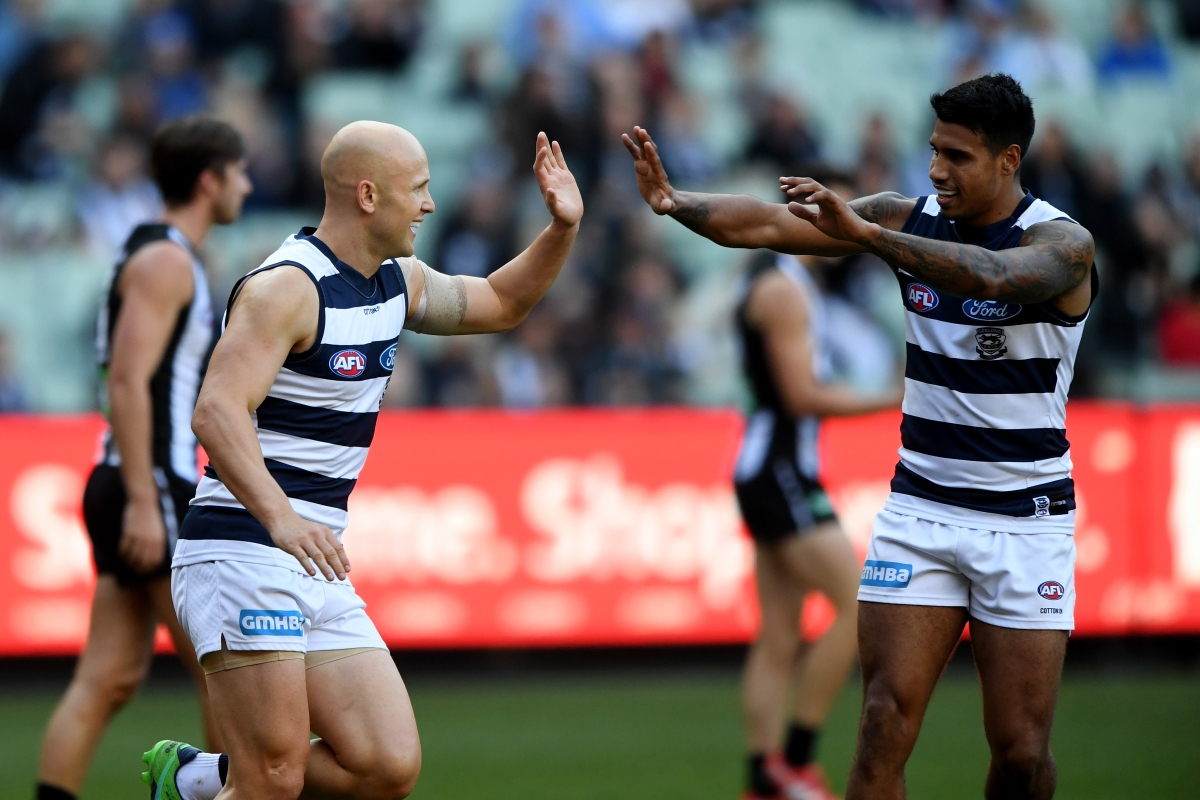 Article image for Geelong moves into the Top 4 with victory over Collingwood