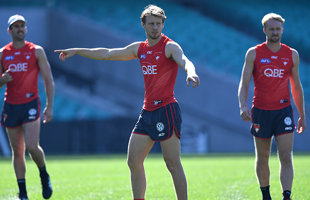Article image for Sydney young gun out for season following post-training accident