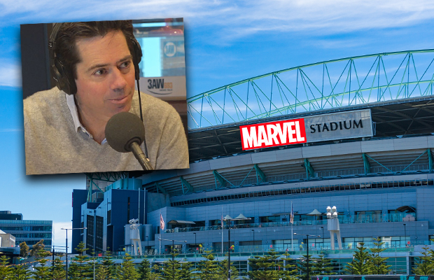 Article image for Gillon McLachlan's 'promise' about footy at Marvel Stadium