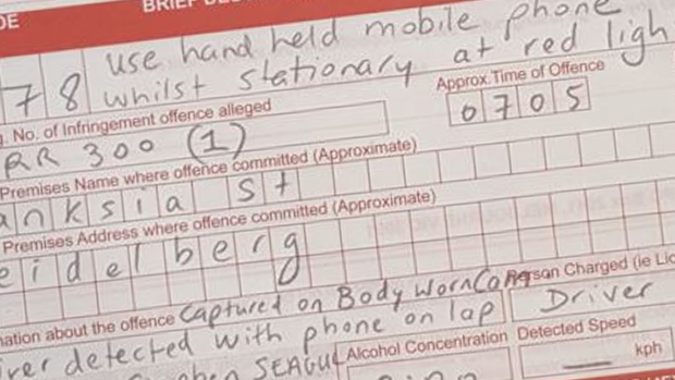 Article image for Driver busted watching movie on his phone while driving