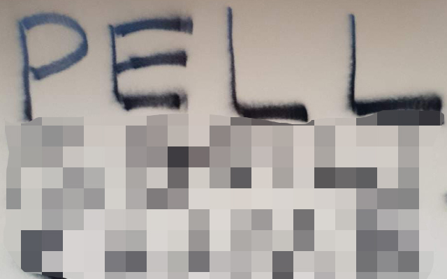 Article image for 'Vulgar' Pell graffiti splashed across church and lawyer's office