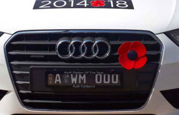 Article image for Tacky? War memorial's new car poppies come under fire