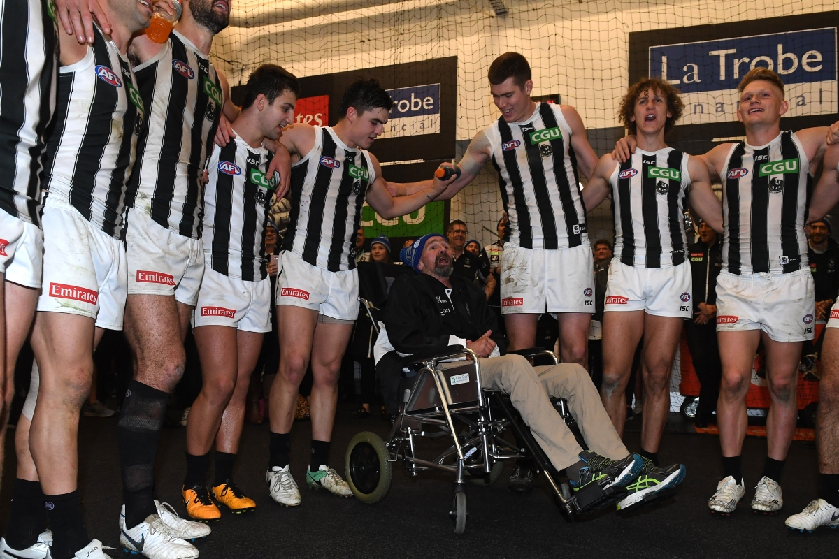 Article image for Hear from the REAL hero of the Magpies' stunning win at the MCG