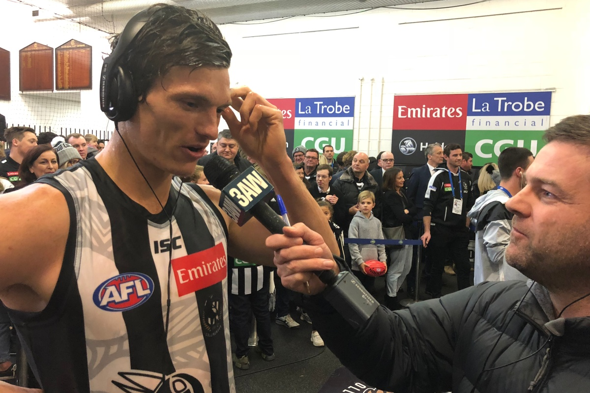Article image for A long road: Mature-age Magpie opens up after four-goal debut