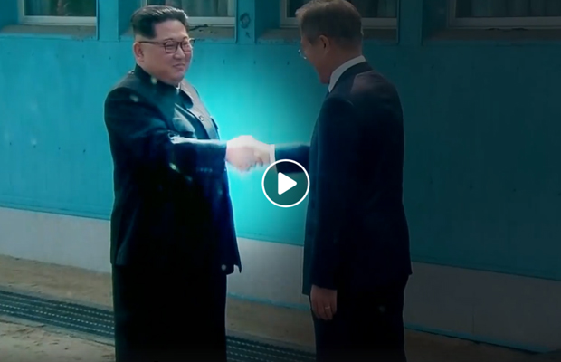 Article image for Watch: The Hollywood-style video Donald Trump played Kim Jong-un