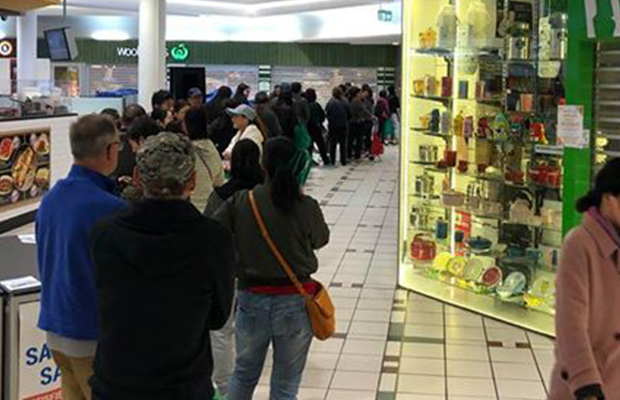 Article image for Massive early morning line for baby formula at Box Hill supermarket