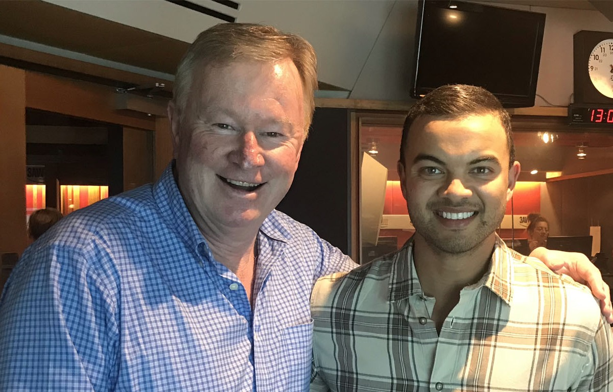 Article image for In the studio today: Guy Sebastian with Denis Walter