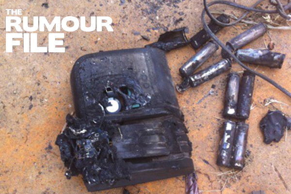 Article image for Rumour confirmed: Fake popular tool brand battery explodes and catches fire