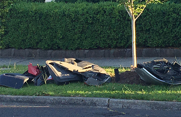 Article image for Rumour File: 'Car parts everywhere' as resident wake to bizarre dumping