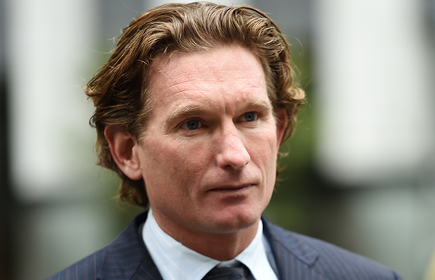 Article image for James Hird hit by car, taken to hospital