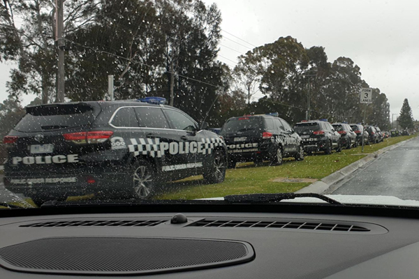 Article image for Police pounce on hundreds of Bandidos bikies in town for their annual meeting