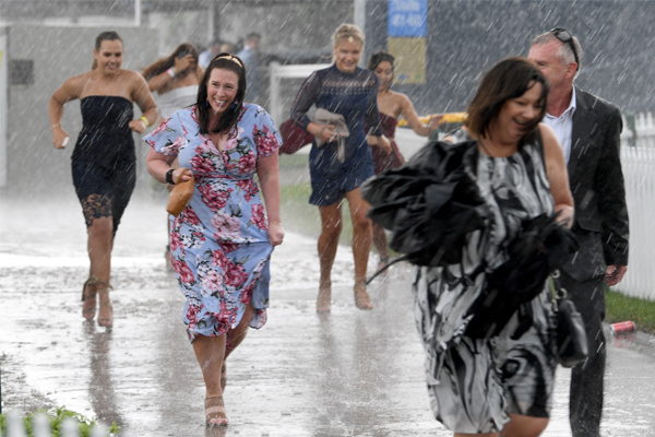 Article image for Flooding at Flemington sees major train delays and race times pushed back