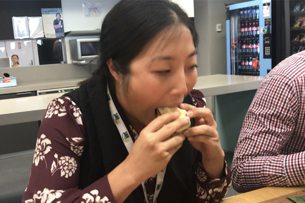 Article image for VIDEO: Mikkayla 'Rex' Mossop in the Great 3AW Pie-Eating Contest of 2018