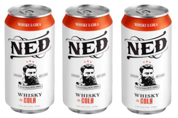 Article image for Major alcohol retailer selling whisky with Ned Kelly's image on the cans