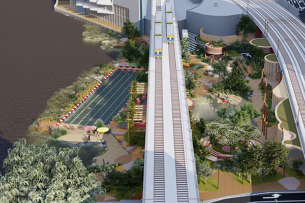 Article image for European-inspired upgrade proposed for banks of the Yarra, featuring 50m pool
