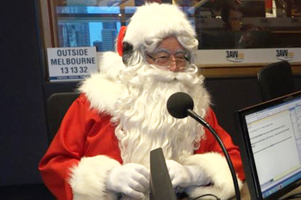 Article image for Santa stops by 3AW Mornings to take calls from the littlest listeners