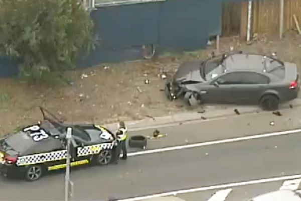 Article image for Driver on the run after speeding at 155km per hour and hit-run collision in Melbourne's west