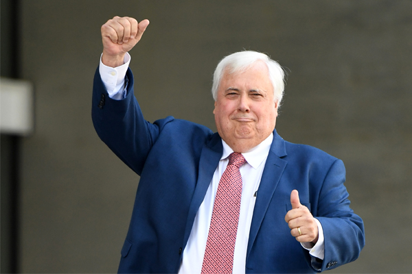 """Article image for """"I think Clive is toast"""": Copyright lawyer says Clive Palmer would lose against Twisted Sister in court"""