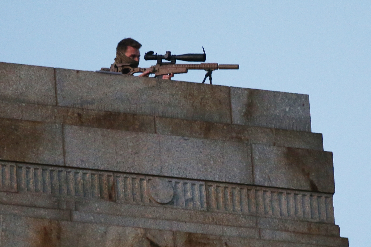 Article image for 'We're not taking any chances': Top cop on sniper at Anzac Day dawn service