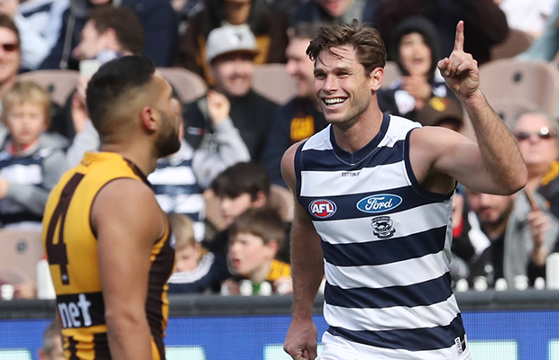 Article image for Geelong bring home the chocolates in the Easter rivalry match