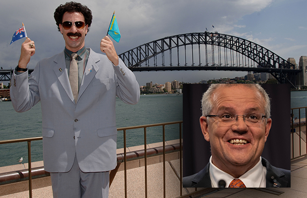 Article image for The Prime Minister explains why he impersonated Borat in parliament