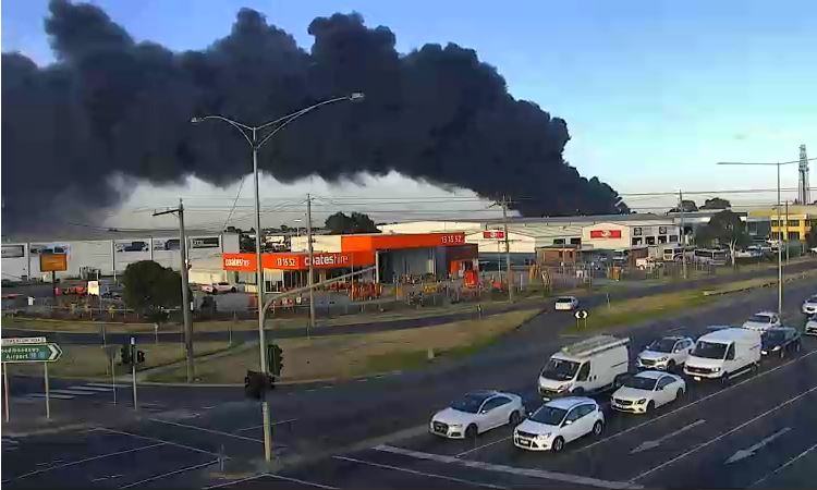 Article image for Factory fire: Campbellfield site had its licence suspended by the EPA last month