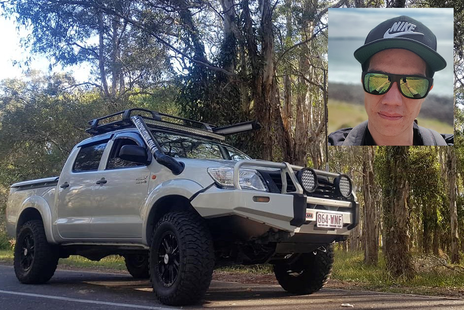 Article image for Naked man clings to back of speeding ute for 25 minutes in an attempt to stop car thieves