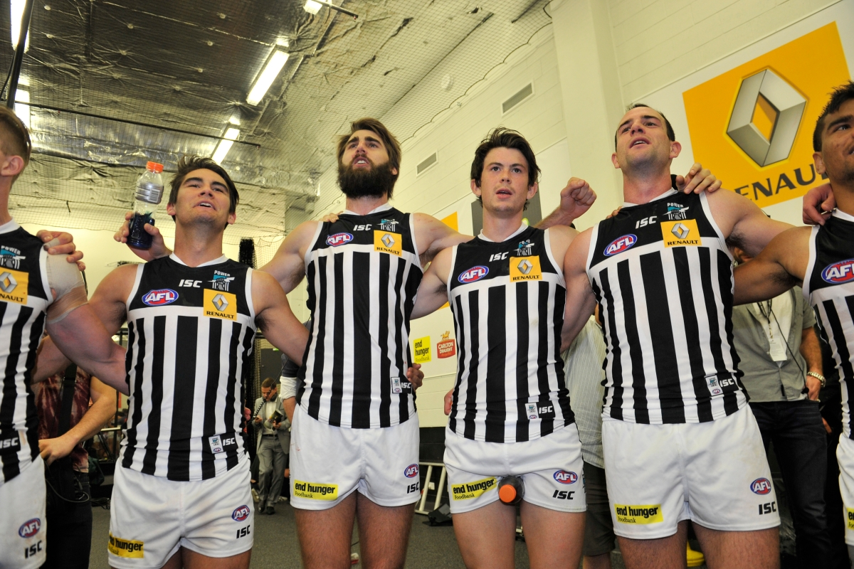 """Article image for Why a Collingwood legend """"doesn't care"""" if Port Adelaide wear 'prison bar' jumper"""