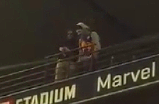 Article image for Yuck! Man filmed spitting on crowd at Marvel Stadium