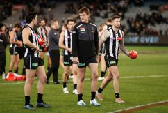 Nathan Buckley provides an update on Darcy Moore's hamstring injury