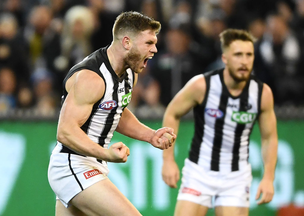 Article image for Collingwood beat Geelong to book prelim final spot