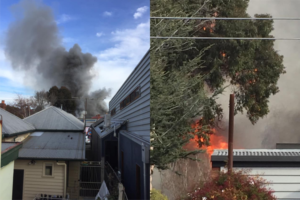 Article image for Firefighters battle blaze in Brunswick house