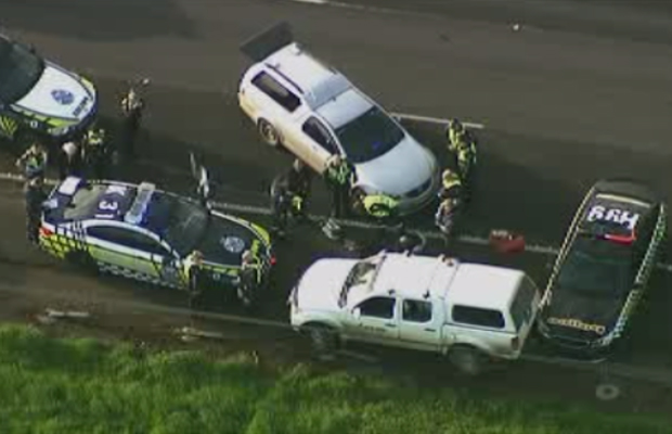 Article image for Princes Fwy chase: Three people charged over dangerous pursuit