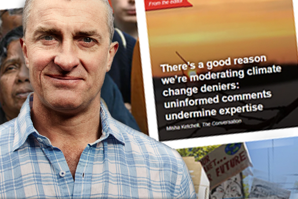 Article image for Tom Elliott clashes with the editor of an academic website which has banned comments from climate change deniers