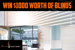WIN $1,000 worth of blinds thanks to The Blind Factory!