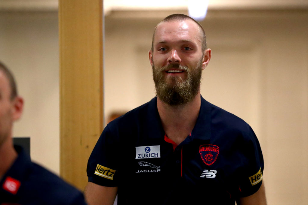 Article image for Congratulatory text could lead Max Gawn to seek advice from former skipper