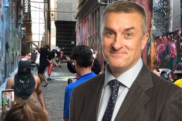 Article image for Why Melbourne can't complain about 'inevitable' paint bombing in Hosier Lane