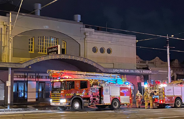 Article image for Carlton fire: Iconic San Remo Ballroom significantly damaged