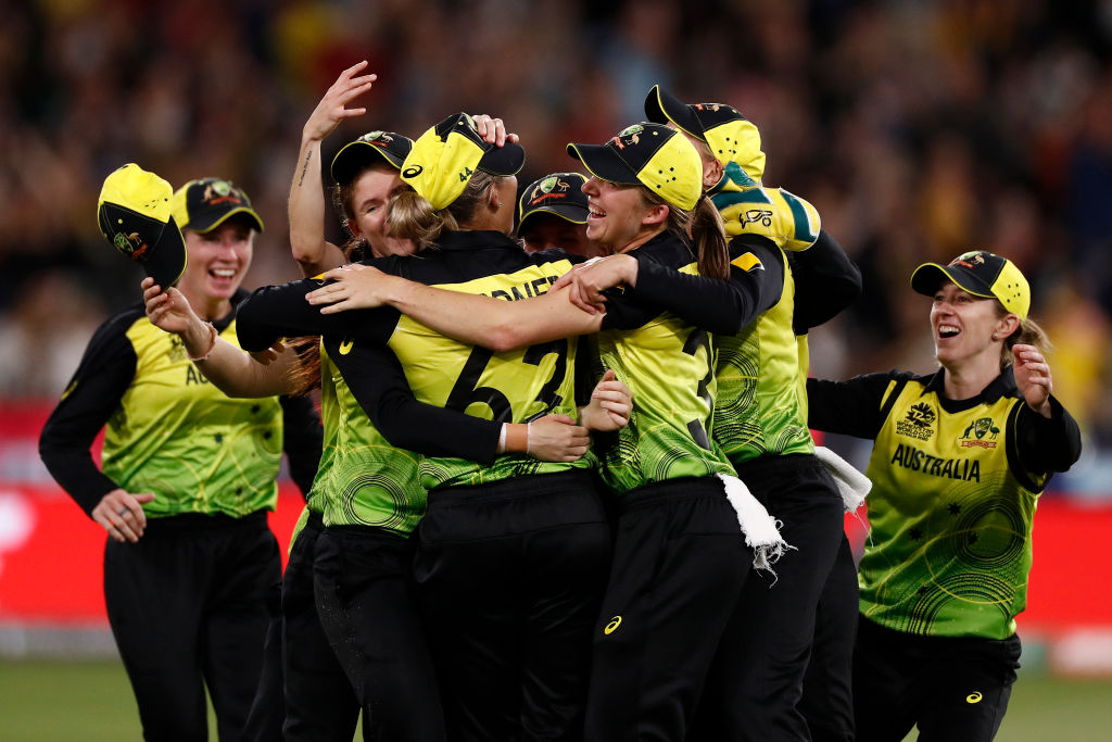 Article image for Record-breaking crowd watches on as Australia wins Women's T20 World Cup