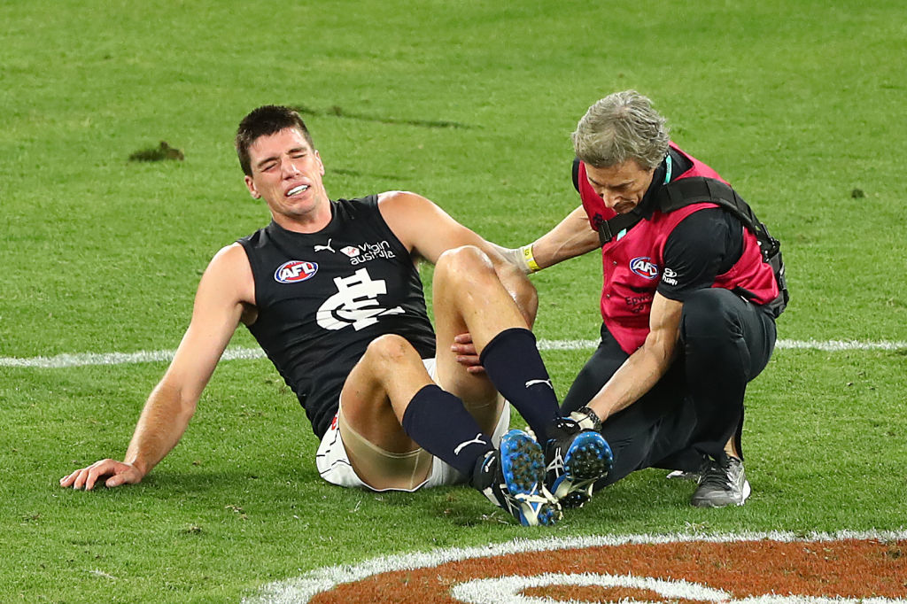 Article image for Blues ruckman Matthew Kreuzer sidelined again
