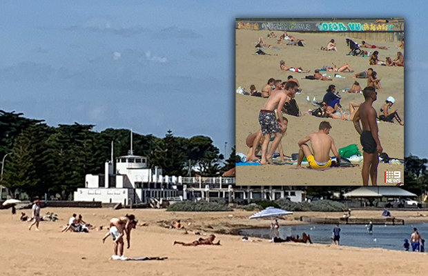 Article image for BEACH BAN: Council takes swift action after selfish Melburnians flock bayside