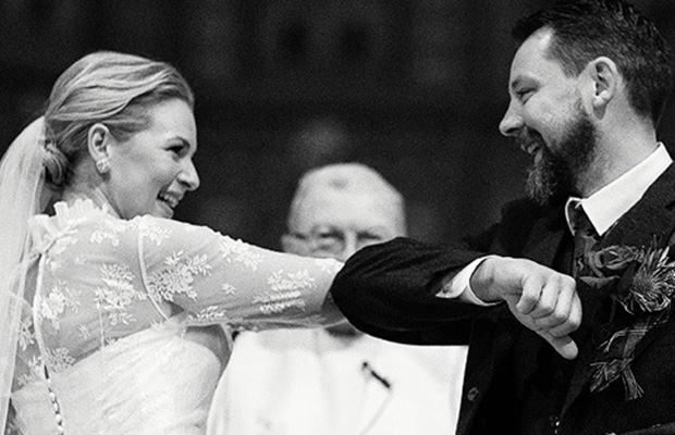 Article image for The Melbourne bride + groom who who practiced social distancing on the alter