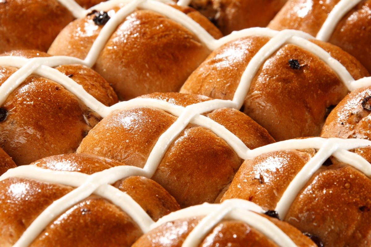 Article image for Adrian Richardson's quick and easy hot cross buns
