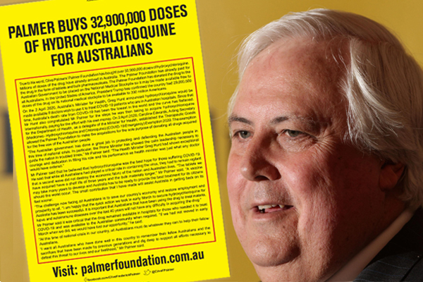 Article image for Clive Palmer's coronavirus newspaper ad slammed as 'dangerous' and 'misleading'
